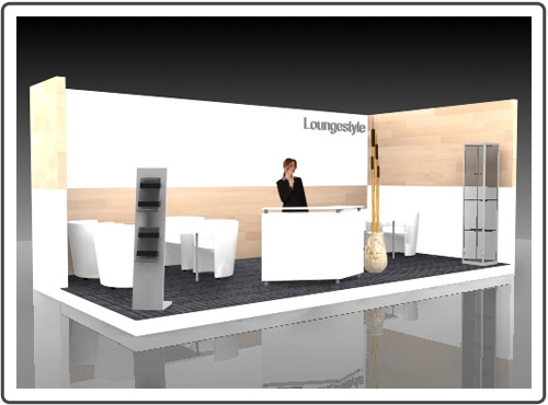 Messestand Tube