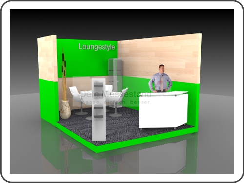 Messebau Laser World Individualstand