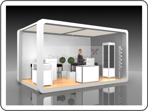 Messebau Exponatec mit Design