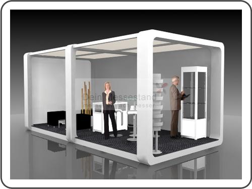 Messebau Productronica mit Design