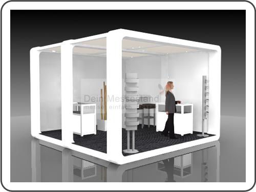 Messebau Tube mit Design