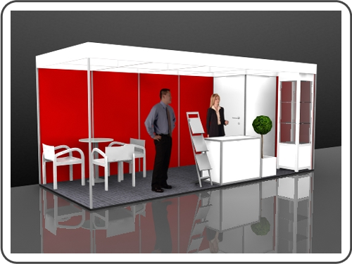Messebau Euroshop Stellwand Messestand