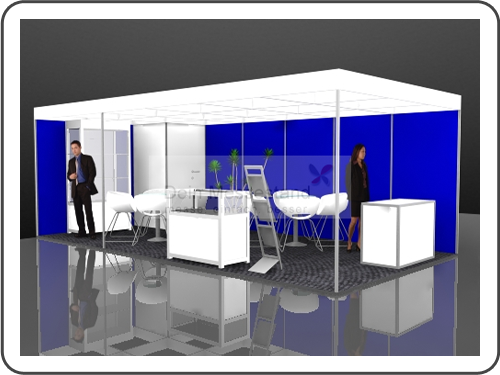 Messebau Inter Airport Stellwand Messestand