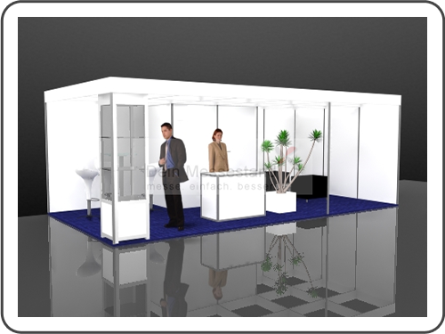 Messebau Materialica Stellwand Messestand