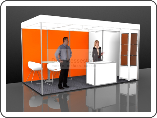 Messebau Pro Sweets Stellwand Messestand