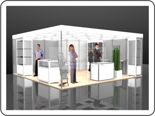 Messebau Tube Stellwand Messestand