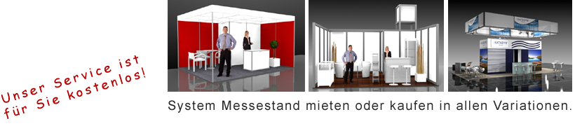 Messestand mit Messebausystem