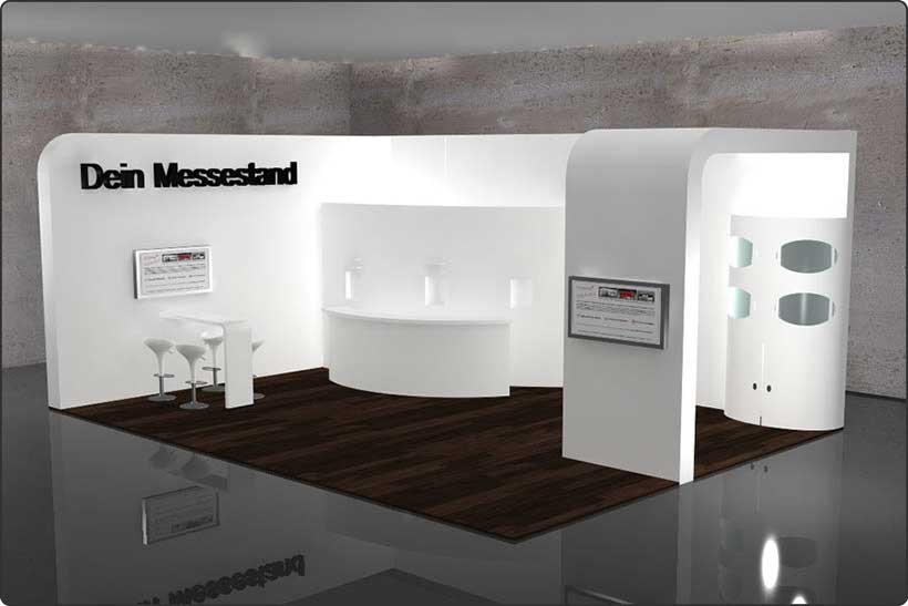 Exhibition Stand White : Exhibition stands booth construction germany u dein messestand
