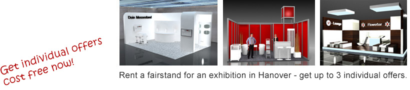 exhition stand offers hanover cost free