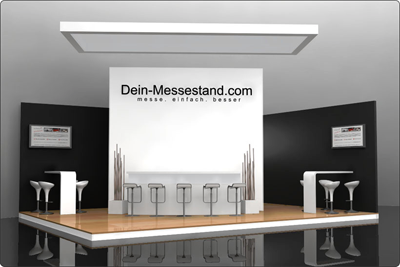 Messestand im Corporate Design konventionell