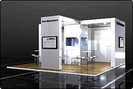 Messestand Frankfurt - Kopfstand exklusives Design