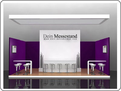Messestand mieten ab 10.000 Euro Messestand mit Doppelboden