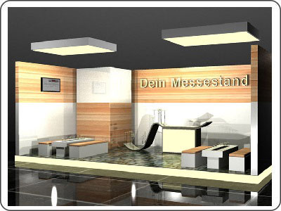 Messestand mieten ab 10.000 Euro Lounge Messestand