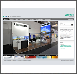 Mezzo Systems Screenshot Webseite