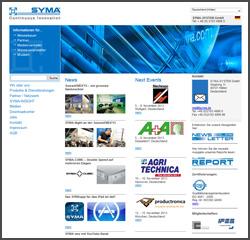 SYMA-SYSTEM GmbH Screenshot Webseite