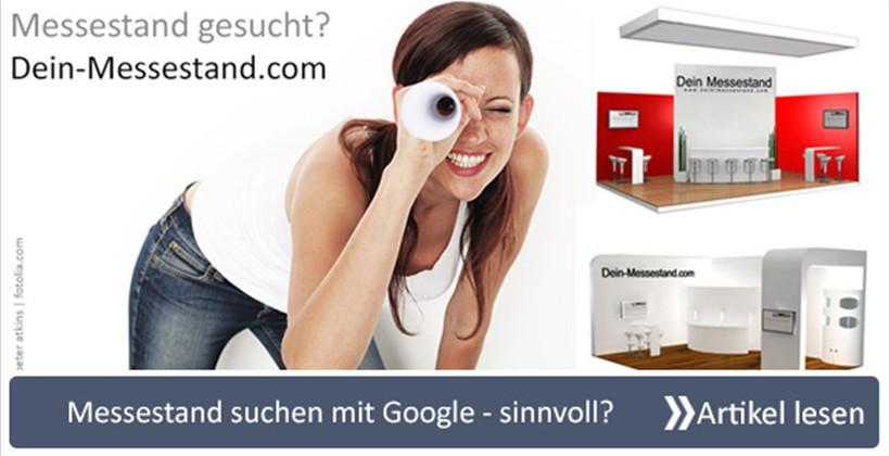 Messestand suchen mit Google