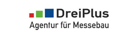 DreiPlus Agentur für Messebau Logo